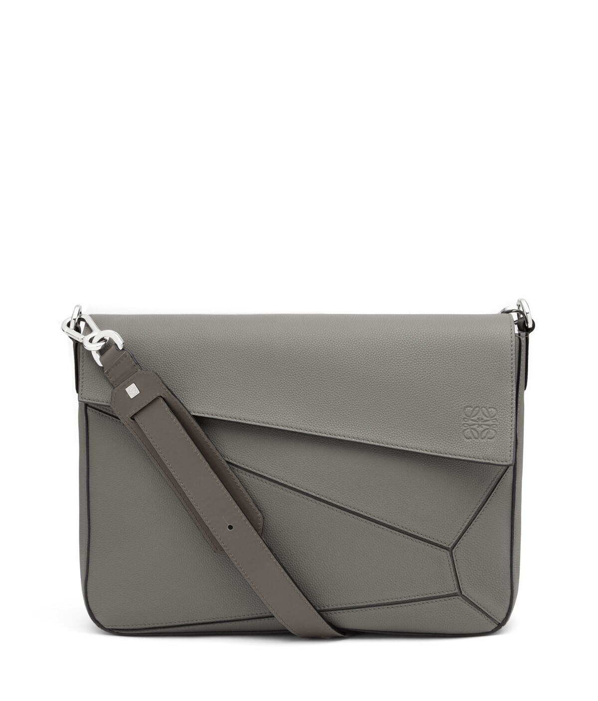 LOEWE Bolso Puzzle Messenger Gris Metalico front