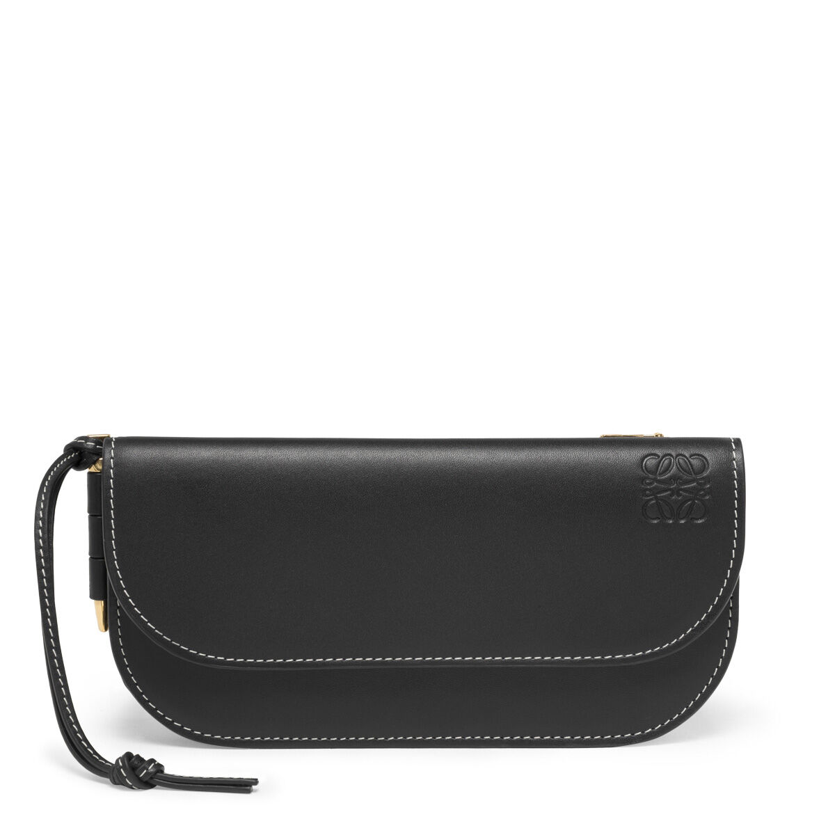 LOEWE Gate Continental Wallet Black/Oxblood front
