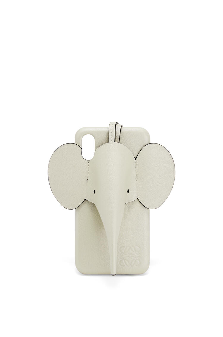 LOEWE Elephant cover for iPhone X/XS in pearlized calfskin Sage pdp_rd