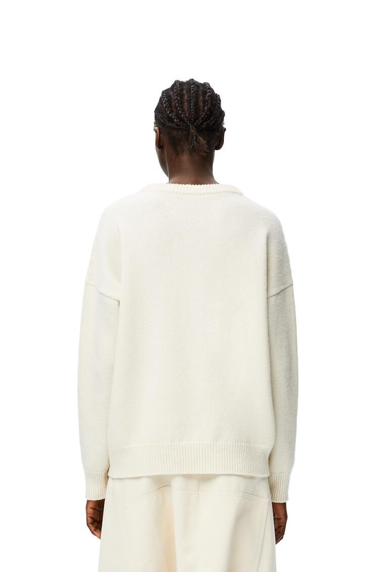 LOEWE Jersey en lana con motivo LOEWE Blanco/Camel pdp_rd