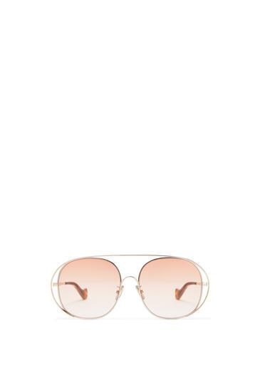 LOEWE Metal round sunglasses Peach pdp_rd
