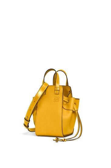 LOEWE Mini Hammock Drawstring bag in soft grained calfskin Narcisus Yellow pdp_rd