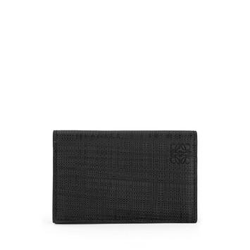 LOEWE Linen Business Cardholder Black front