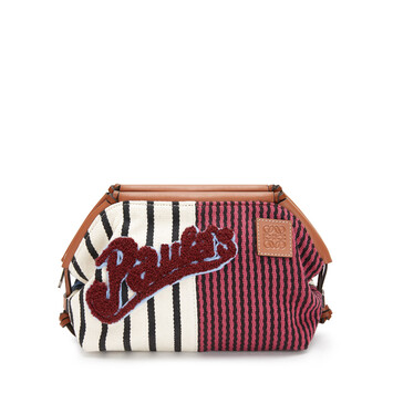 LOEWE Paula Cushion Pouch Multicolor/Tan front