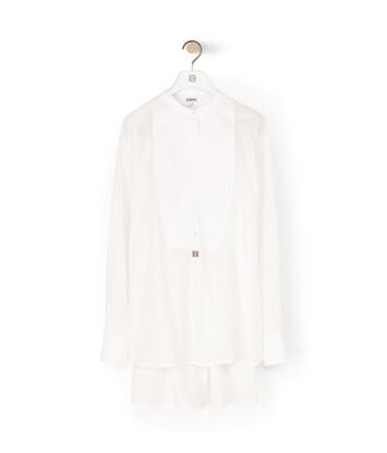 LOEWE Oversize Tunic Anagram Emb ホワイト front