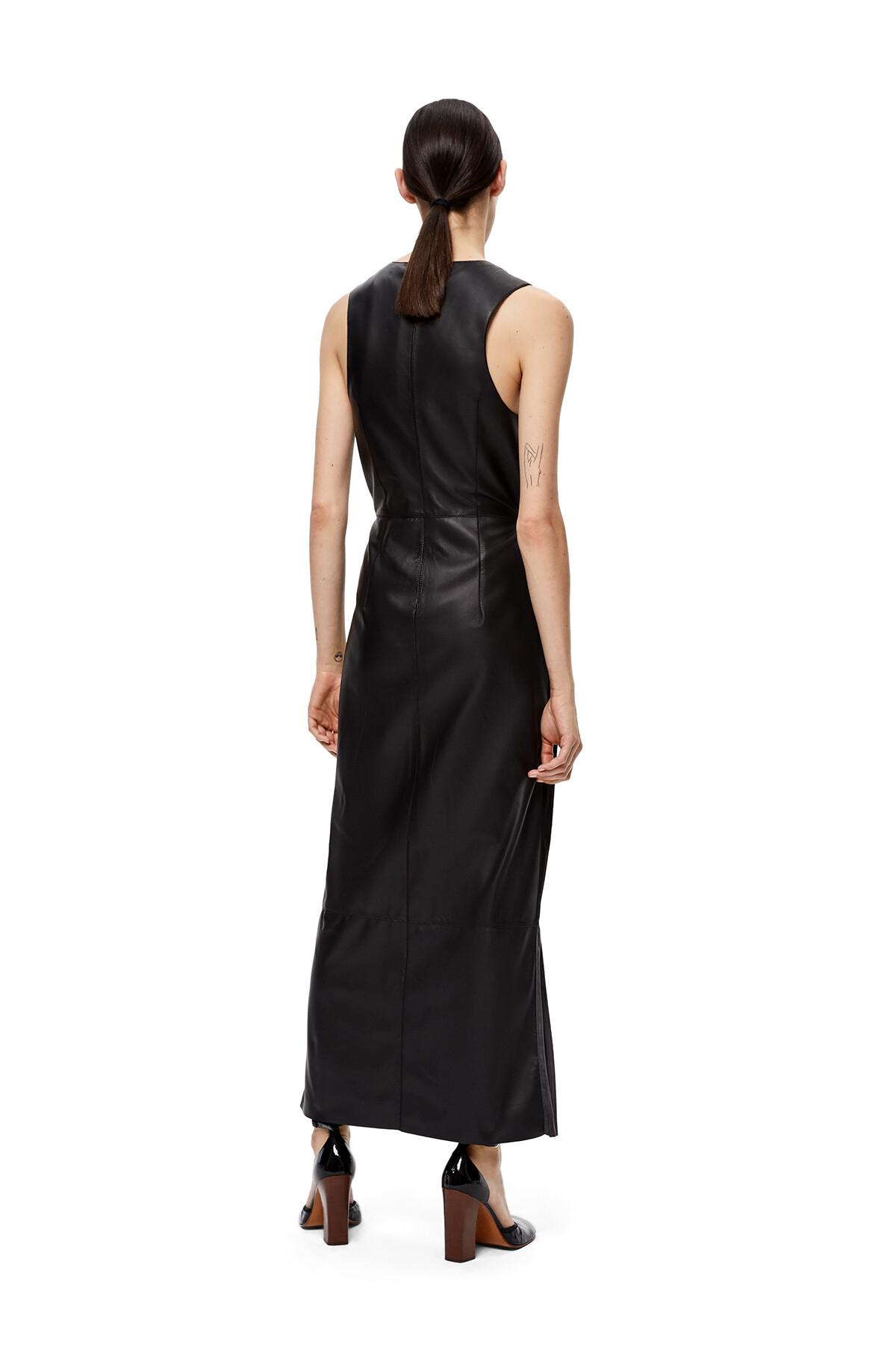 LOEWE V-Neck Sleeveless Dress Black/Grey front