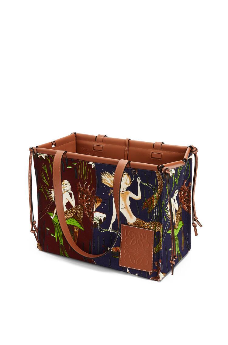 LOEWE 印花帆布和小牛皮 Cushion Tote 手袋 Marine/Burgundy pdp_rd