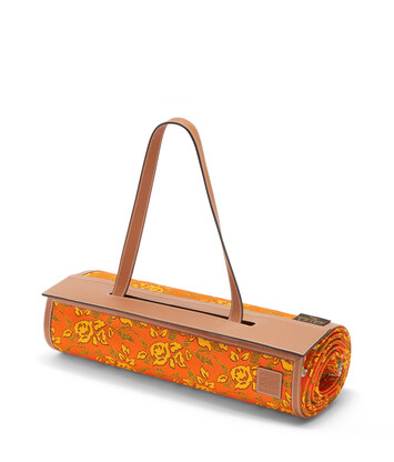 LOEWE Paula Beach Mat Orange/Tan front