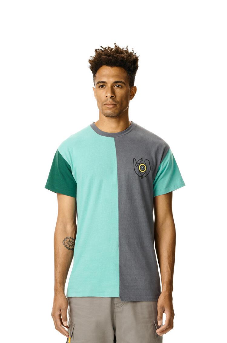LOEWE LOEWE asymmetric eye t-shirt in cotton Multicolor pdp_rd