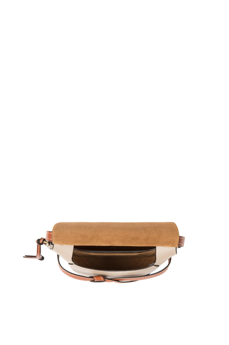 LOEWE Small Gate Bag In Soft Calfskin Amber/Light Grey/Rust Colour pdp_rd