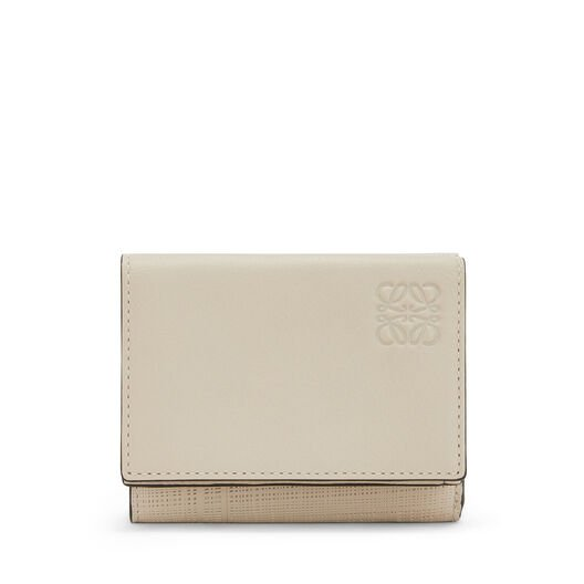 LOEWE Trifold Wallet Ivory front