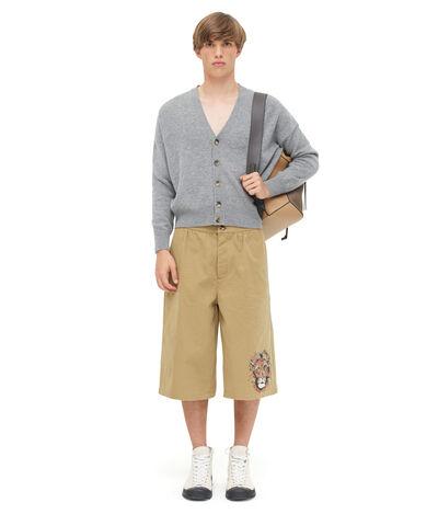 LOEWE Cropped Cardigan Grey front