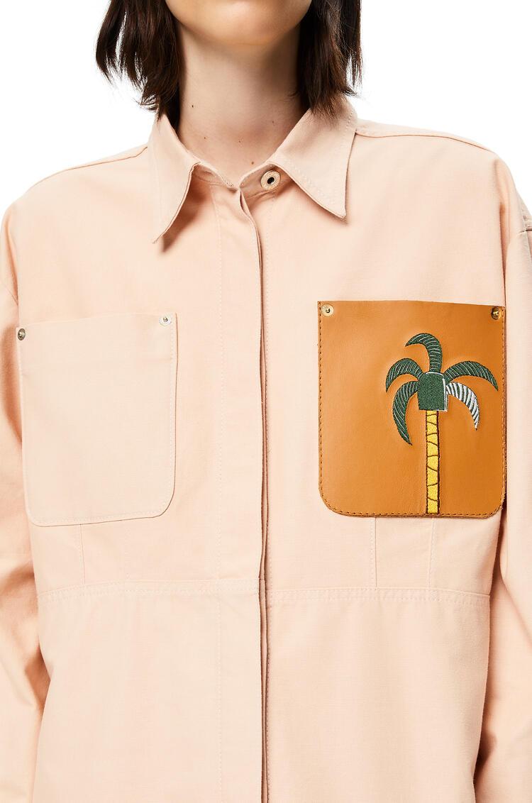 LOEWE La Palme overshirt in denim Pale Pink pdp_rd
