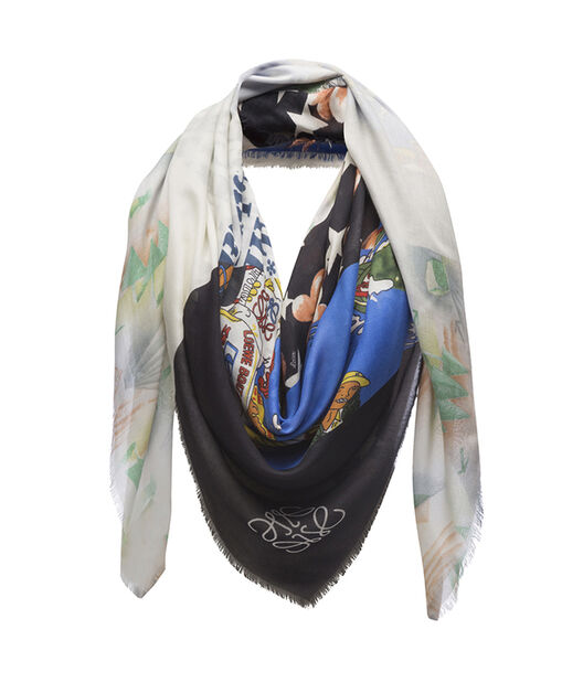 LOEWE 140X140 Scarf Patchwork All Multicolor/Black all