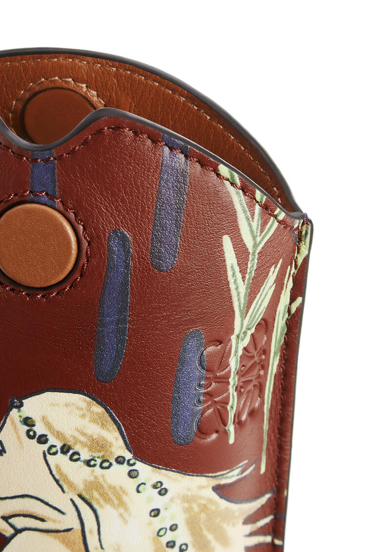 LOEWE Gate pocket in printed classic calfskin Burgundy/Marine pdp_rd