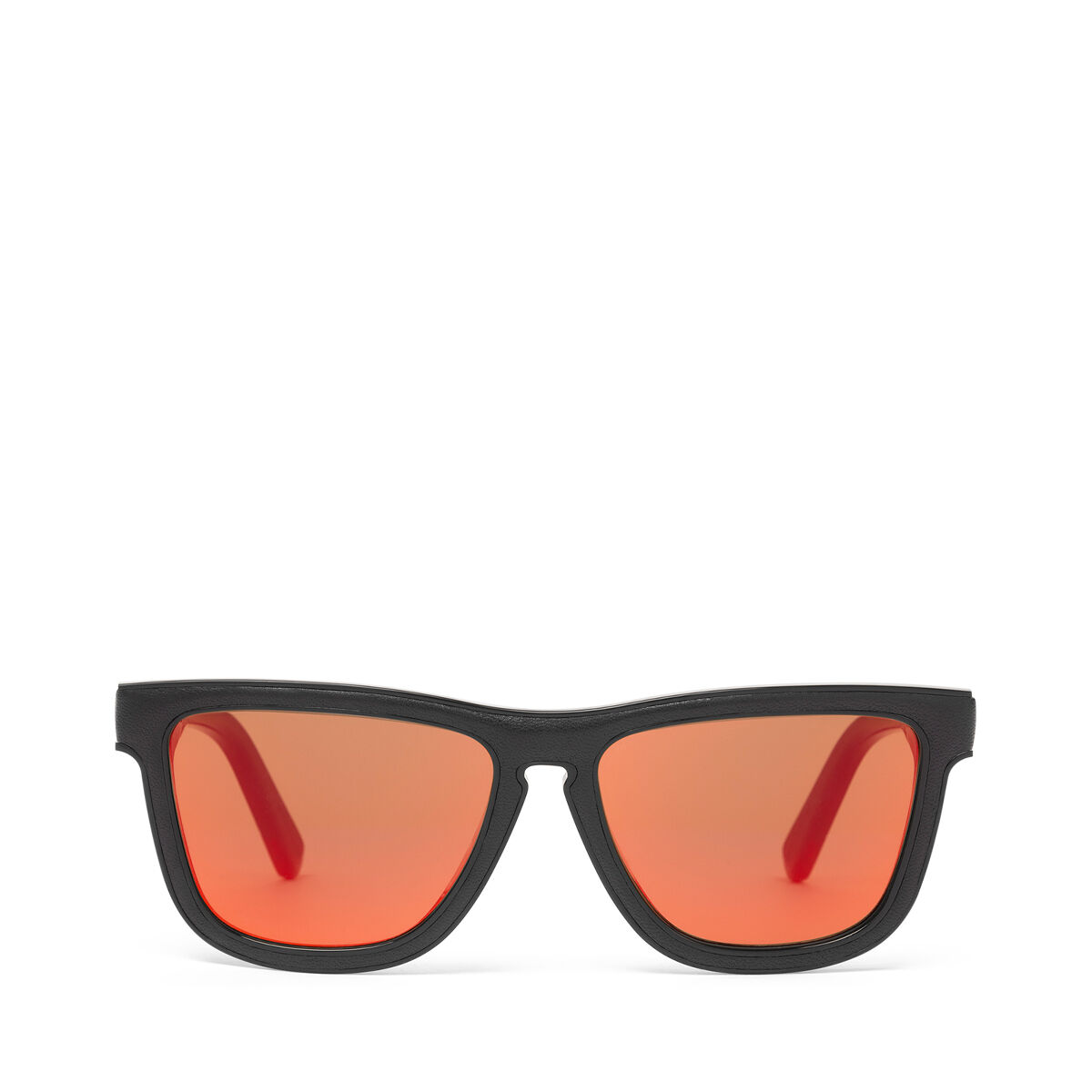 LOEWE Square Padded Sunglasses Black/Mirror Red all