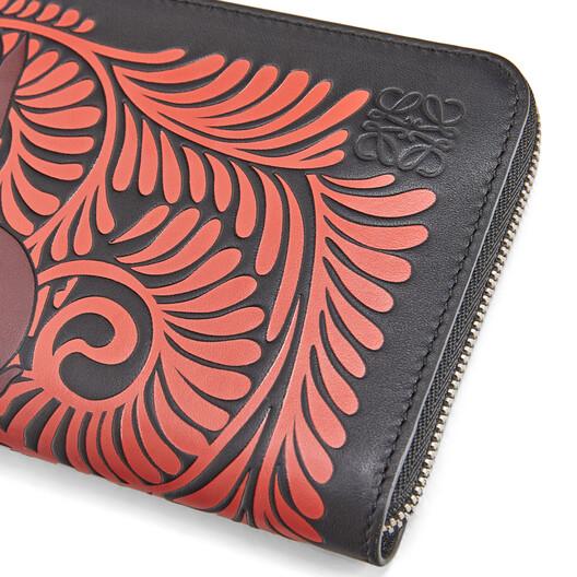 LOEWE Zip Around Wallet Animals Black/Red front