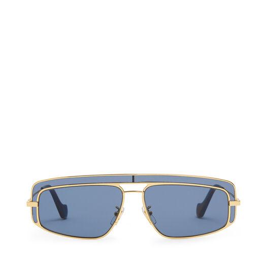 LOEWE Rectangular Sunglasses Gold/Blue front