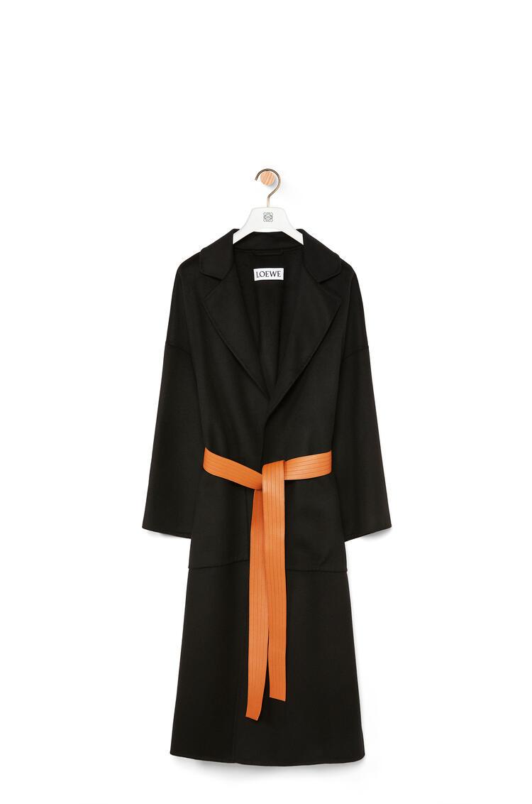 LOEWE Oversize belted coat in cashmere Black pdp_rd