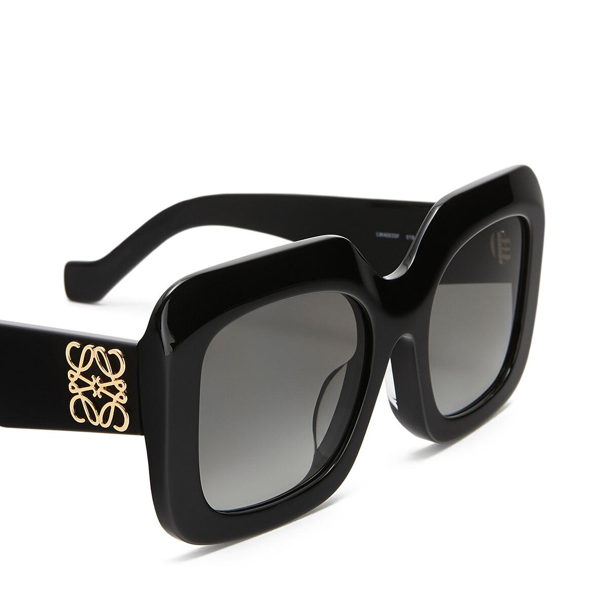 LOEWE Acetate Rectangular Sunglasses ブラック front