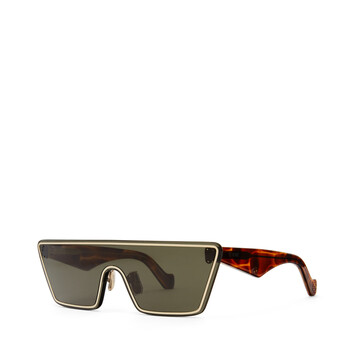 LOEWE Small Mask Sunglasses Moss Green front