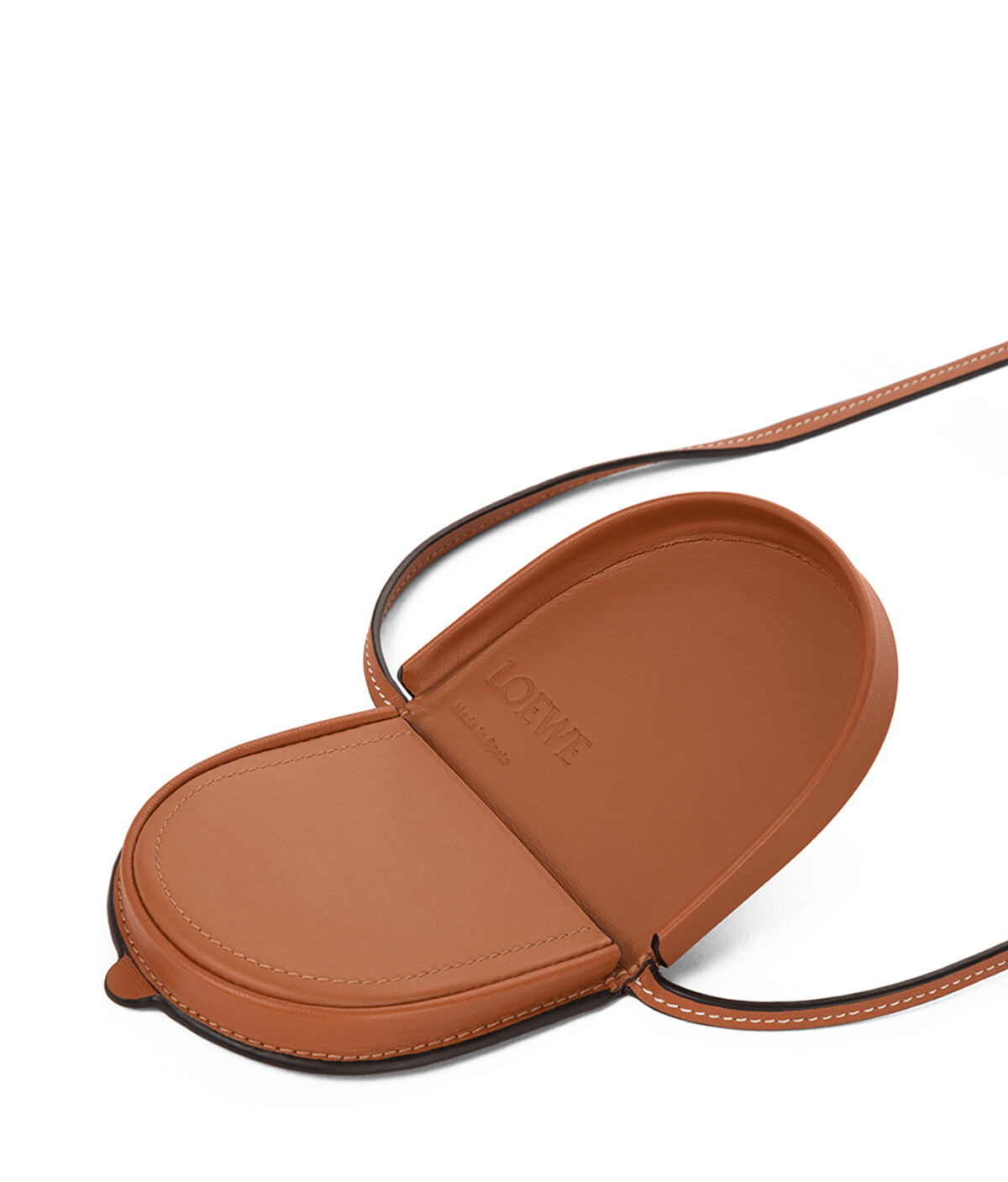 LOEWE Heel Pouch Mini In Soft Calfskin Tan front
