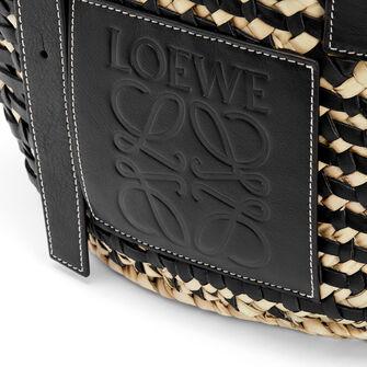 LOEWE Basket Bag Black/Natural front