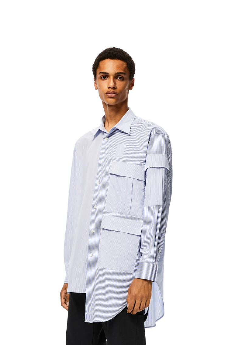 LOEWE Multipocket shirt in cotton White/Blue pdp_rd