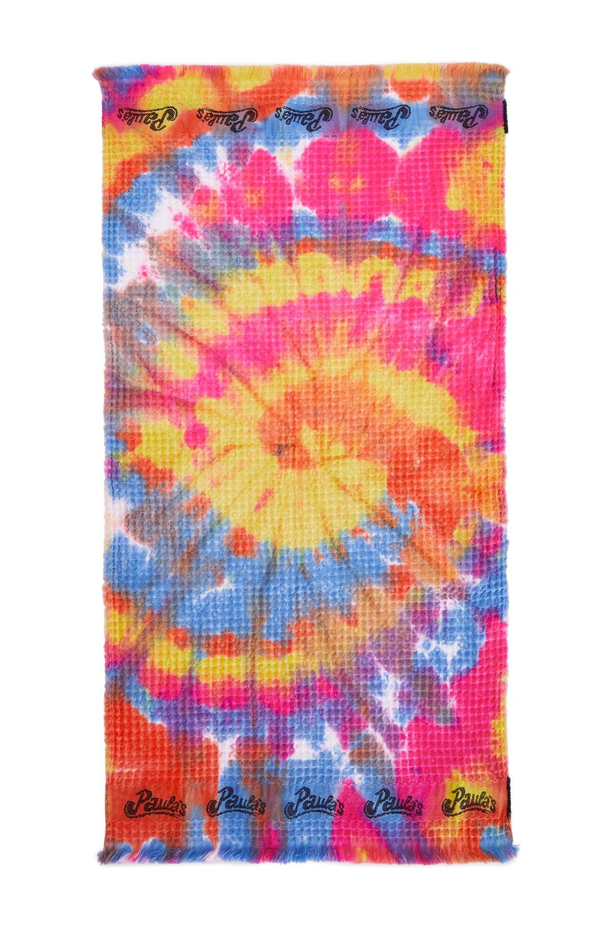 LOEWE 42Cm X 92Cm Waffle Towel In Tie Dye Cotton Multicolor front