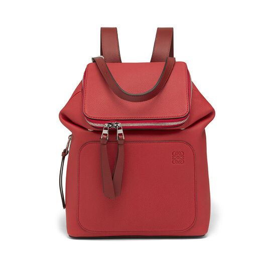 LOEWE Goya Small Backpack Scarlet Red/Burnt Red front