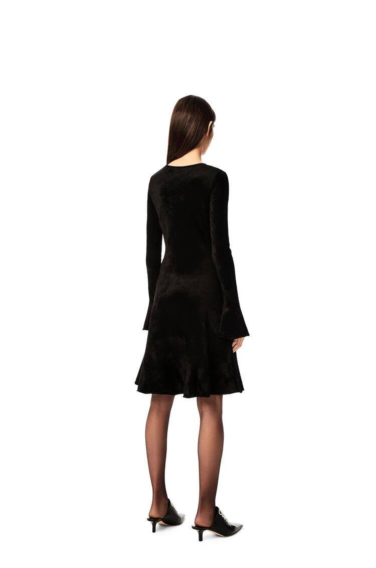 LOEWE Knit mini dress in chenille Black pdp_rd