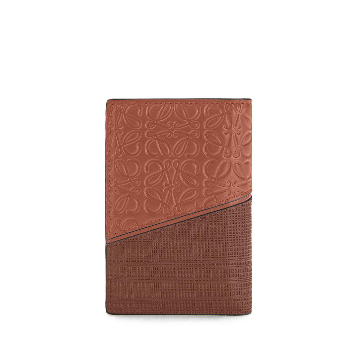 LOEWE Puzzle Bifold Card Cognac front