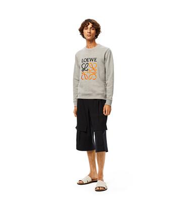 LOEWE Anagram Sweatshirt Gris Melange front