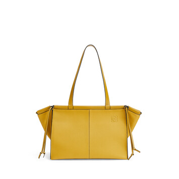 LOEWE Cushion Tote Small Bag Ochre front