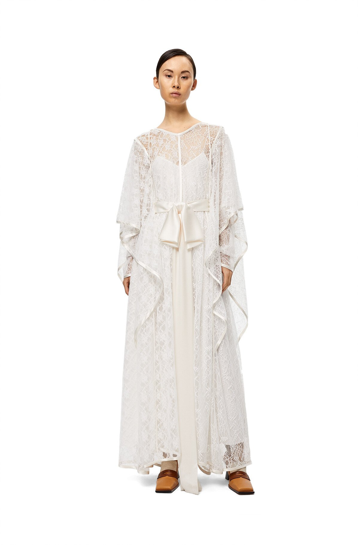LOEWE Lace Knot Dress White front