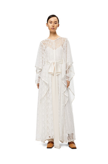 LOEWE Lace Knot Dress Blanco front
