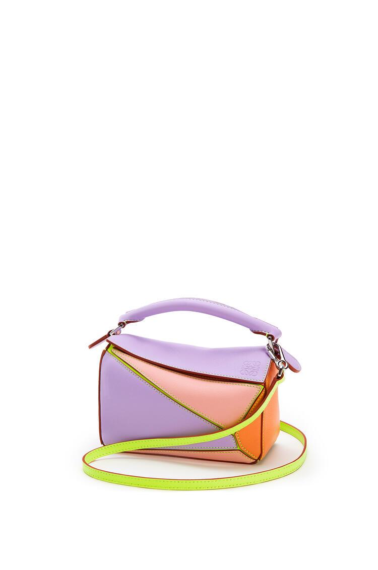 LOEWE Minibolso Puzzle en piel de ternera clásica Malva/Albaricoque Suave pdp_rd
