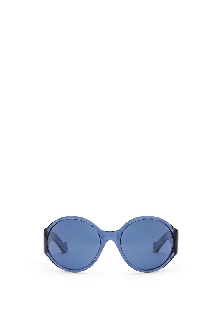 LOEWE Round Anagram Sunglasses in Acetate Shiny Blue pdp_rd