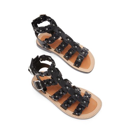 LOEWE Spartiate Sandal 黑色 front