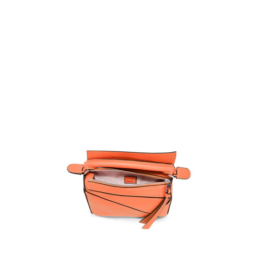 LOEWE Puzzle Mini Bag Bright Peach front