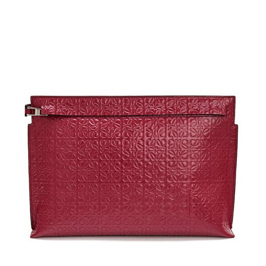 LOEWE T Pouch Repeat 覆盆莓色 front