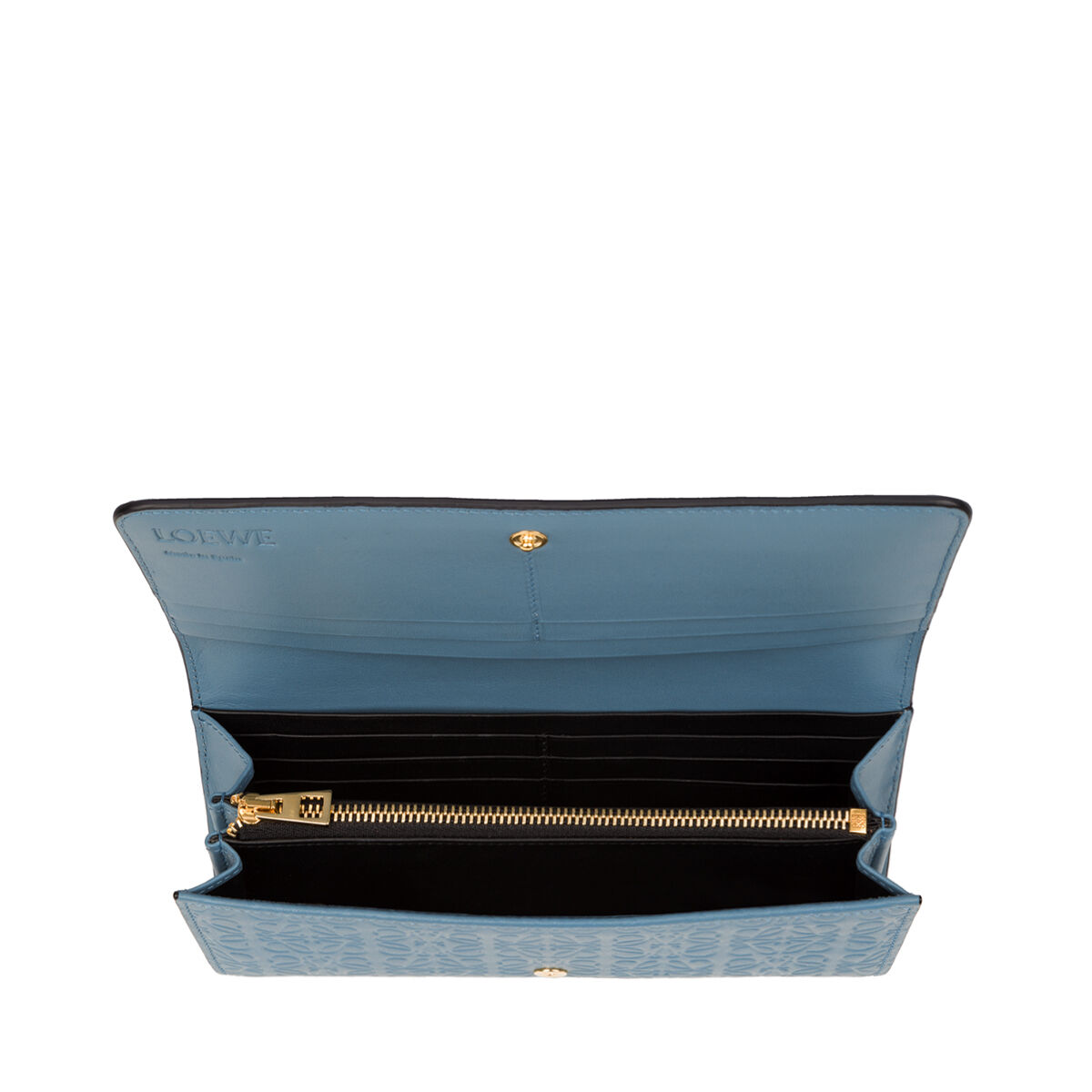 LOEWE Continental Wallet Stone Blue front