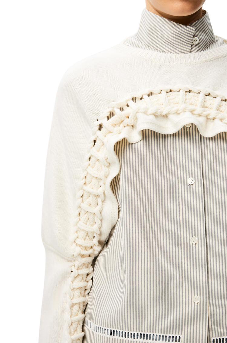 LOEWE Bolero trenzado en lana Crudo pdp_rd