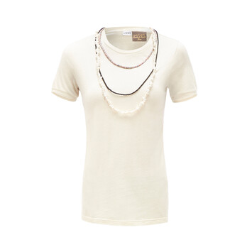 LOEWE Paula T-Shirt Necklaces Calico front