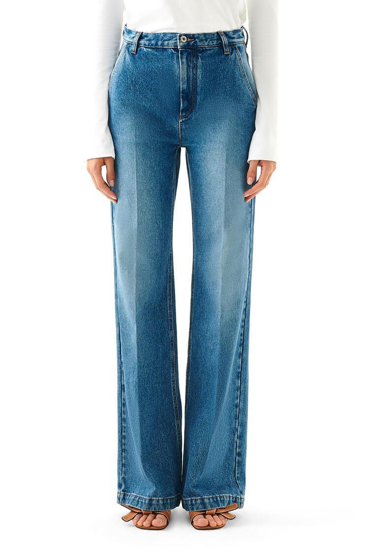 LOEWE Flare Trousers In Denim Washed Denim pdp_rd