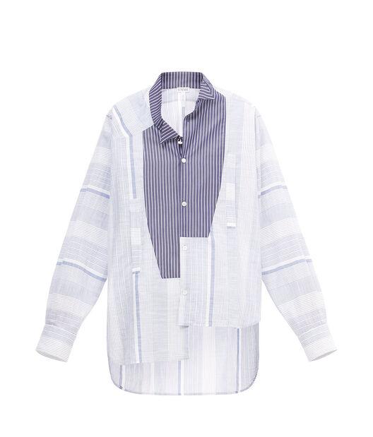 Stripe Asymmetric Shirt