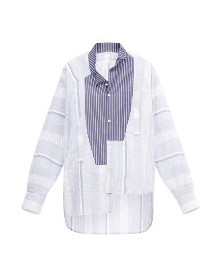 83335e559c0 LOEWE Stripe Asymmetric Shirt Blue White all