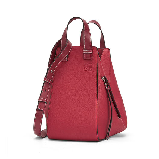 LOEWE Hammock Medium Bag Raspberry front