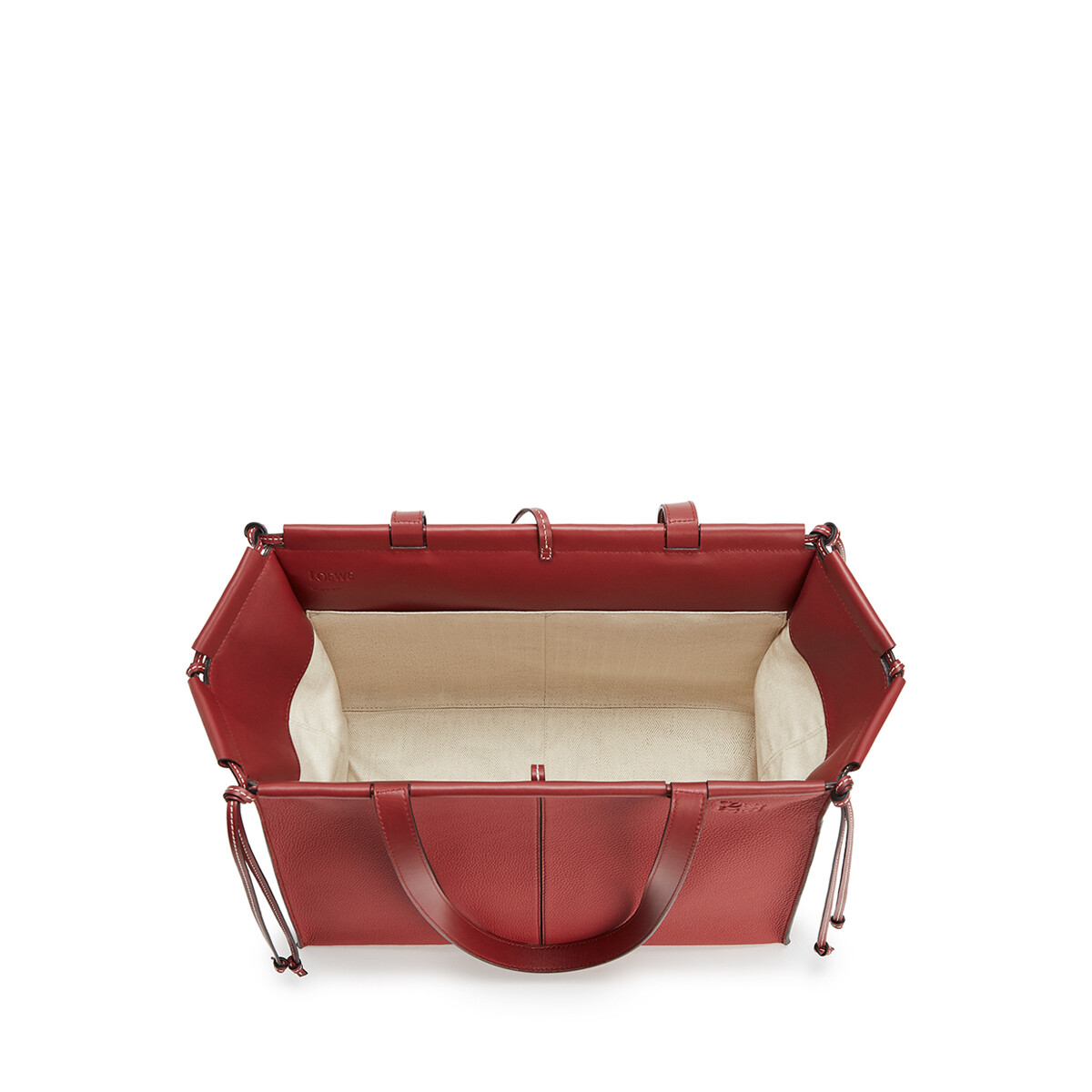 LOEWE Cushion Tote Small Bag Garnet front