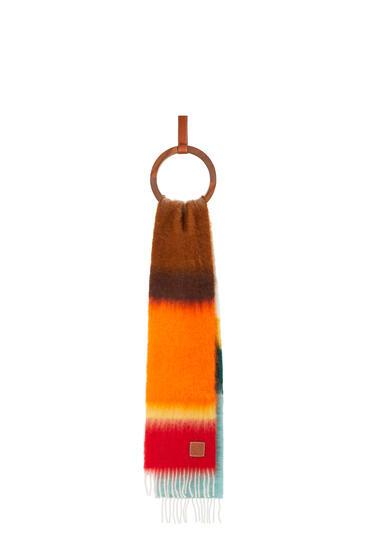 LOEWE Stripe scarf in mohair and wool Light Blue/Orange pdp_rd